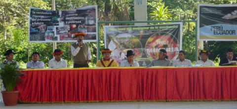 Encuentro Binacional de los Pueblos Originarios Shuar-Awajún-Wampis de Ecuador y Perú en Defensa de los Territorios, Contra la Minería de Frontera