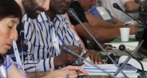 El padre Dário Bossi dio testimonio de los impactos de la minera Vale en el Amazonas. Foto: Kranwinkel Fermin Jovanny Santiago