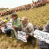 Comuneros protestaron contra proyecto Conga en zona de lagunas