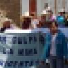 Marcha pacífica de familiares y pobladores del Valle de Condebamba en apoyo a los líderes durante la lectura de sentencia