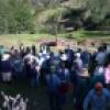 Pobladores de Vista Alegre durante desalojo de Empresa Consolidada de Hualgayoc S.A.