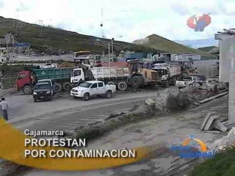 Embedded thumbnail for Cajamarca: Pobladores de Hualgayoc protestan contra minera Gold Fields