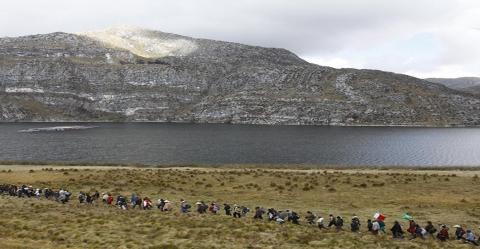 Vista panorámica de la mina Yanacocha, Cajamarca. Foto: Miguel Mejía - La República.